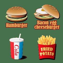 ハンバーガーショップのメニュー