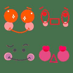 Cute colorful face Emoji8