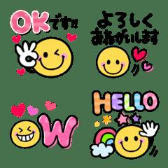 Smile sticker emoji
