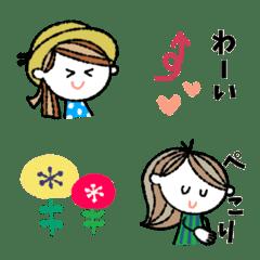 mainichi talk girls  Emoji