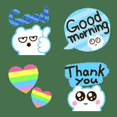 Polar Bear Emoji Set