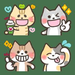 Mini Sticker Emoji full of cat reactions