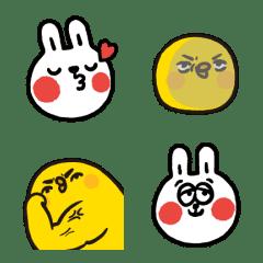 อิโมจิไลน์ Lazy Rabbit & Mr. Chu: Animated Emoji
