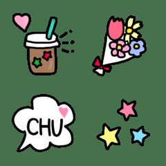 Colorful happy emoji every day