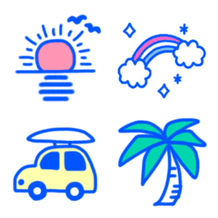 BLUE,summer emoji