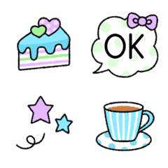 Fluffy cute and lovely emoji 5