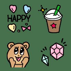 Colorful happy cute emoji2