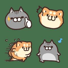 Plump dog & Plump cat 動態表情貼