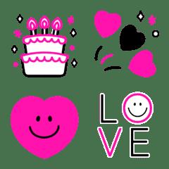 Animated Pink Black Smile H...