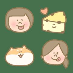 อิโมจิไลน์ Basic cute funny everyday useful girl