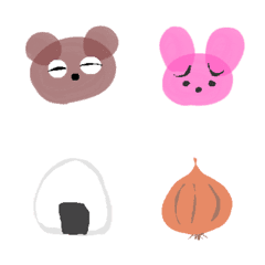 อิโมจิไลน์ Bear, Rabbit, and Rice