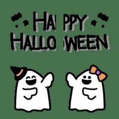 อิโมจิไลน์ Simple handwriting Halloween Emoji