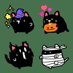 Halloween black cat emoji