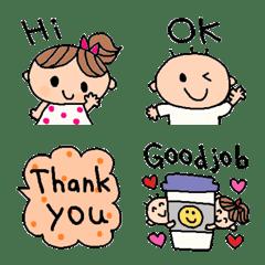 cute simple english emoji123