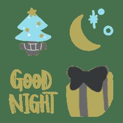 Winter Emoji goldenskygray
