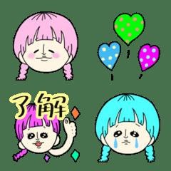 colorful pretty girl Emoji