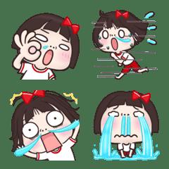 อิโมจิไลน์ Pretty girl ---Animation emoji---