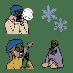 อิโมจิไลน์ SIMPLE EVERY DAY winter