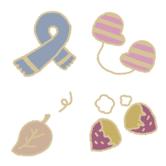 simple and cute winter emoji