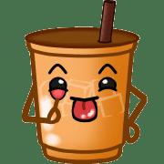 อิโมจิไลน์ ชานมไข่มุกและชาเย็น