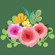 อิโมจิไลน์ ดอกไม้ สดใส