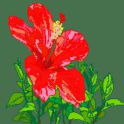 อิโมจิไลน์ Floral pictograph