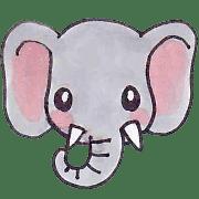 อิโมจิไลน์ Cute face animals Emoji