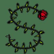 อิโมจิไลน์ สวนกุหลาบ (ตัวอักษร)