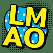 อิโมจิไลน์ English abbreviation comic style
