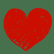 อิโมจิไลน์ ชุดหัวใจสีแดงและสีดำ