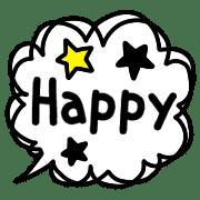 อิโมจิไลน์ Cute Stylish Rabbita Simple Emoji