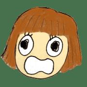 อิโมจิไลน์ Bob hair girls