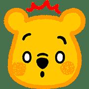 อิโมจิไลน์ หมีพู อิโมจิลายเส้นสีเทียน