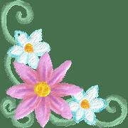 อิโมจิไลน์ Frame Emoji vol.2 art flower