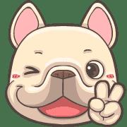 อิโมจิไลน์ French Bulldog PIGU Animated Emoji