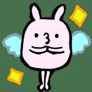 อิโมจิไลน์ Rabbit and nuts