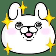 อิโมจิไลน์ Rabbit 100% อิโมจิดุ๊กดิ๊ก