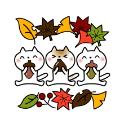 อิโมจิไลน์ Autumn of slowly cat-pictograph